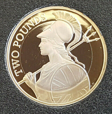 2020 Elizabeth II £2 Two Pound PROOF Coin, Britannia