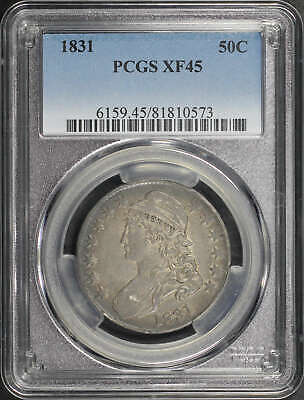 1831 Capped Bust Silver Half Dollar PCGS XF-45