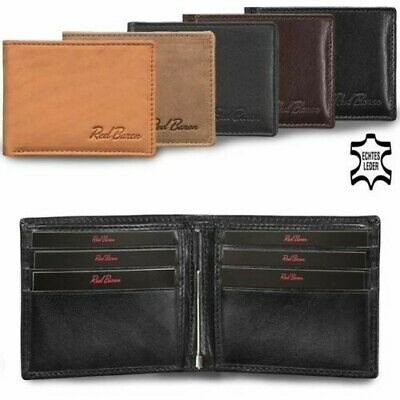 Wallet Purse Briefcase with Money Clip without Coin Pocket Leather RB-WT-008