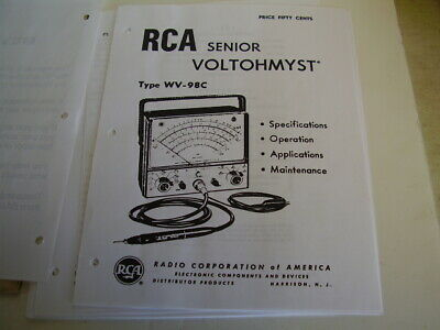 RCA Senior Voltohmyst type WV-98C manual