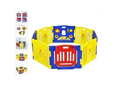 Baby 8 Panel Play Yard Playpen Child's Safety Play Center Toddler Play Area