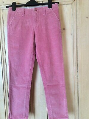 Fat Face Girl's Pink Corduroy Slim Leg Trousers age 9