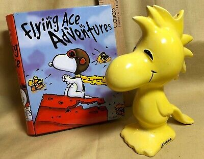 1972 WOODSTOCK Bank Peanuts Snoopy Schulz Vintage and Flying Ace Adventure Tin