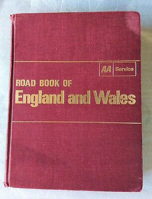 AA Road Book of England and wales 1966 Final edition 1960s drive driving routes