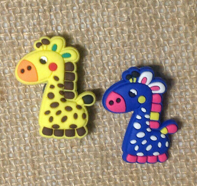 Blue & Yellow Giraffe Easter Jibbitz Crocs Shoe Bracelet Wristband Charm Set