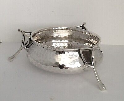 Arts & Crafts Solid Silver Bowl Martin Hall & Co 1906