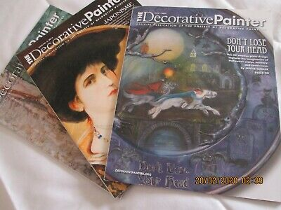 Lot of 3 Society of Decorative Painters TOLE PAINTING Patterns
