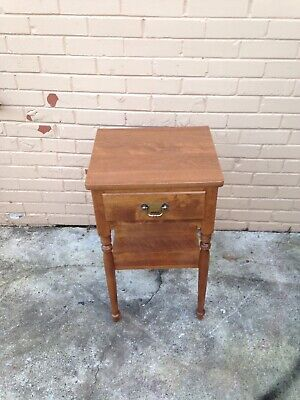 STOP- Very Nice Ethan Allen Solid Maple 🍁Nightstand 1 Drawer And Shelf