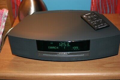 Bose Wave Radio CD Stereo Alarm Clock With Remote Graphite Gray AWRCC1
