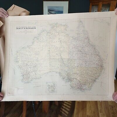 Old School Map - Australia - Vintage Map