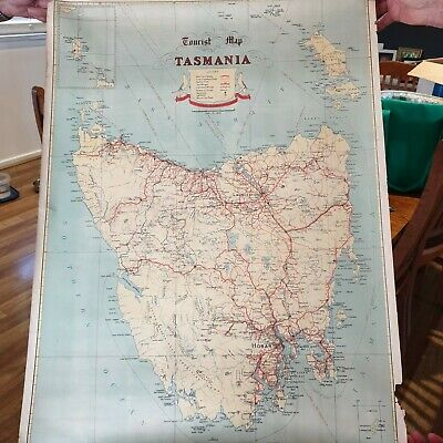 Tourist Map of Tasmania - Vintage