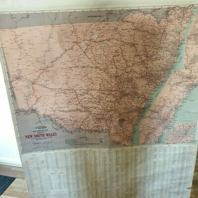 Tourist Map of NSW- Vintage