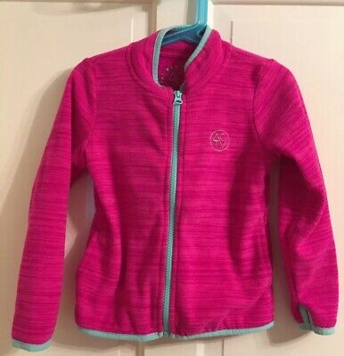 Tu Shocking Pink Sports Zip Up Jacket Top. Micro Fleece Age 5 Years Size
