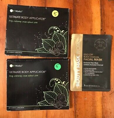 Lot of It Works Ultimate Body Applicator Contouring Wrap 8 Applications + Mask
