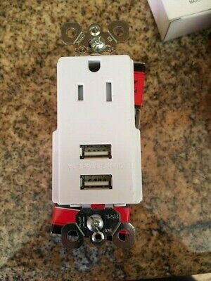 Legrand Pass Seymour WHITE 2.1A USB Combo 15A Outlet TM8USBWCC6 Lot of 3