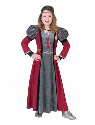 Lady Red Children's Costume Damsel Medieval Court Lady Queen Costume