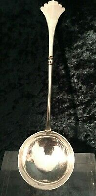 Imperial Russian Silver Ladle with Traditionally Decorated Bowl, Hallmarked '84'