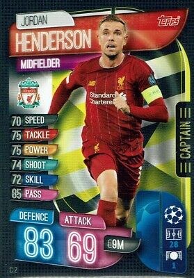 Topps Match Attax Extra Champions League 19/20 2019/20 C 2 Captain Henderson
