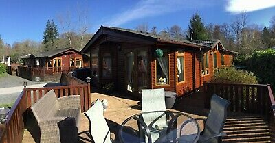 Log cabin holiday home on lake Windermere White Cross Bay 3 bed Cumbria for sale