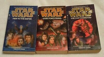 STAR WARS Paperback book Thrawn Trilogy Set Heir Dark Force Command Timothy Zahn
