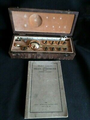 20Th Century Cased Sikes's Hydrometer, With Thermometer Marked T.o Blake