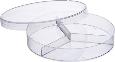 Neolab 4 0032 Petri Dish, 3 Compartments, 3 Cams, Sterile, Polystyrene/Diameter