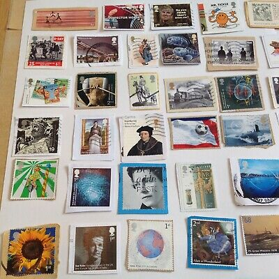 GB stamps. Commemoratives 50 All Different,  on paper