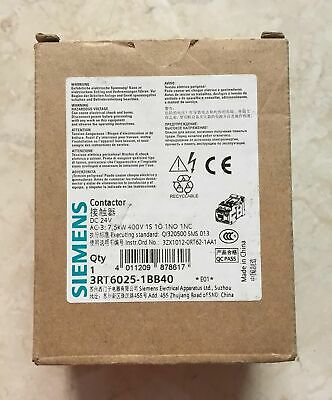 1PC NEW SIEMNES 24VDC DC contactors 3RT6025-1BB40 free shipping