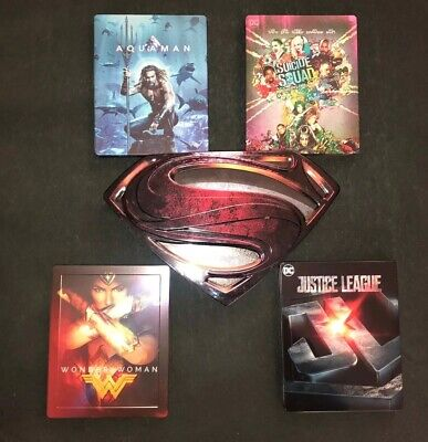 Justice League,Suicide Squad,Wonder Woman, Superman,Aquaman-Steelbook Limited ED