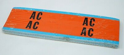 """LOT OF 25 BRADY 44227 """"AC"""" Labels Voltage Card, 4 per Card Marker (100 Total)"""