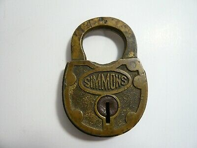 E. C. Simmons brass padlock,  no key