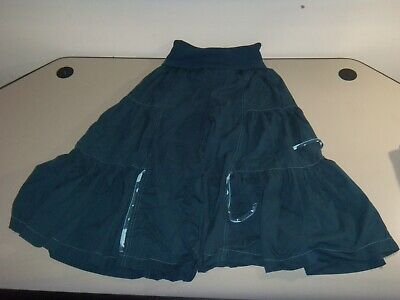 Matilda Jane Mindy Butterfly Teal Blue Wide Leg Cropped Big Ruffle Pants Size M