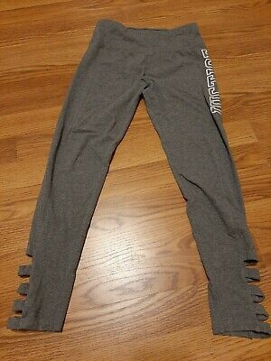 Justice Active Girls Pants Size 14. Gray. Elastic Waist.  Justice On Leg