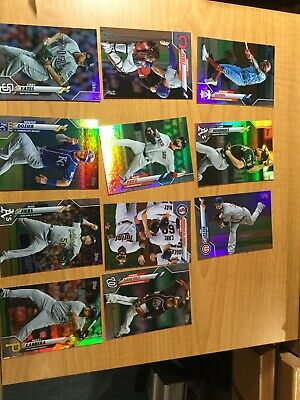 2020 Topps Series ONE RAINBOW FOIL PARALLEL LOT OF 11 CARDS