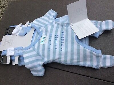 New Mothercare Boys Premature(Neonatal) 2Lbs(0.9Kg) 7 Piece Set 100% Soft Cotton