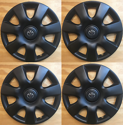 """4x 15""""  hubcaps Matte Black fits Toyota Camry 2000 2001 2002 2003 2004-2006"""