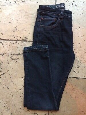 NEXT Jeans Boys Slim Fit Regular Indigo/Black Denim age 14 VGC
