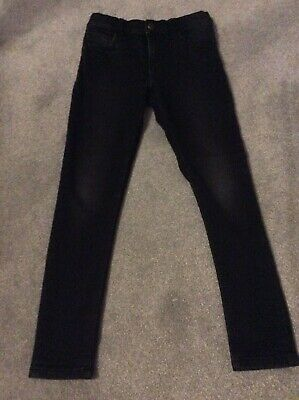Boys Black Denim Skinny Jeans By Marks And Spencers Age 10-11 Years
