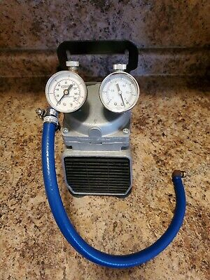 Gast DOA-704-AA Vacuum / Pressure Pump With 2 Gages