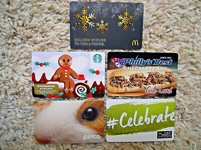 Gift Cards, Collectible, five cards, new, unused, no value on the cards    (N-8)