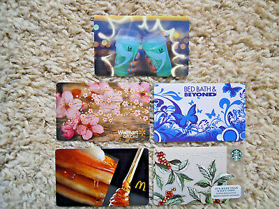 Gift Cards, Collectible, five cards, new, unused, no value on the cards  (G-12)