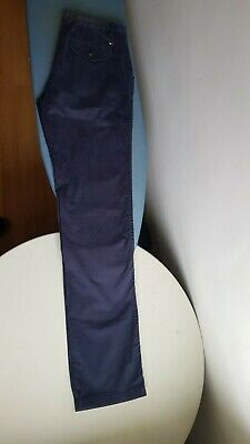 tommy hilfiger trousers chino blue slim fit 34 36
