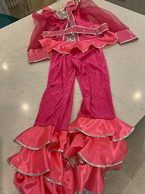 GIRLS PINK ABBA DANCING QUEEN STYLE Fancy Dress OUTFIT SIZE 152cm 9-10 Years