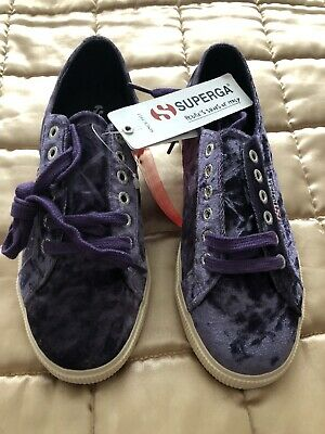 Ladies Purple trainers shoes Superdry size 6 New with tags