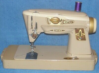 Singer Rocketeer 500A Slant-O-Matic Sewing Machine Complete Works & Attachments