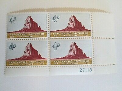 US Postage Stamps Block of 4 NEW MEXICO STATEHOOD 4 Cents