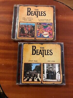 The Beatles Russian CD's Sgt Pepper, Oldies, Abbey Rd, Hey Jude.