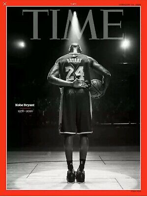 TIME MAGAZINE-2020-KOBE BRYANT (1978-2020) Final Bow On Court Tribute IN HAND