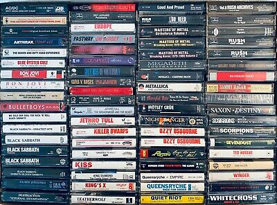 YOU PICK Cassette Tapes Metal Speed Thrash Hard Rock Glam Hair 80s BULK DISCOUN