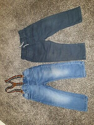 2 Pairs Next Boys Jeans Trousers 9-12 Months